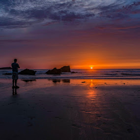 Sunset at the Glaze by Jolyon Vincent - Landscapes Sunsets & Sunrises