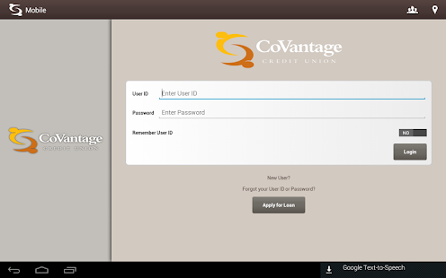 CoVantage Mobile Banking- screenshot thumbnail