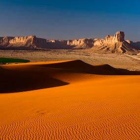 Golden Sand & Rock Formations by Catalino Jr Baylon - Landscapes Deserts