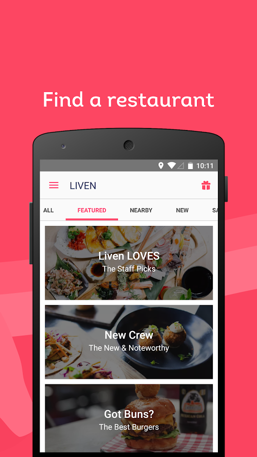 Liven - Restaurant Payment and Rewards- screenshot