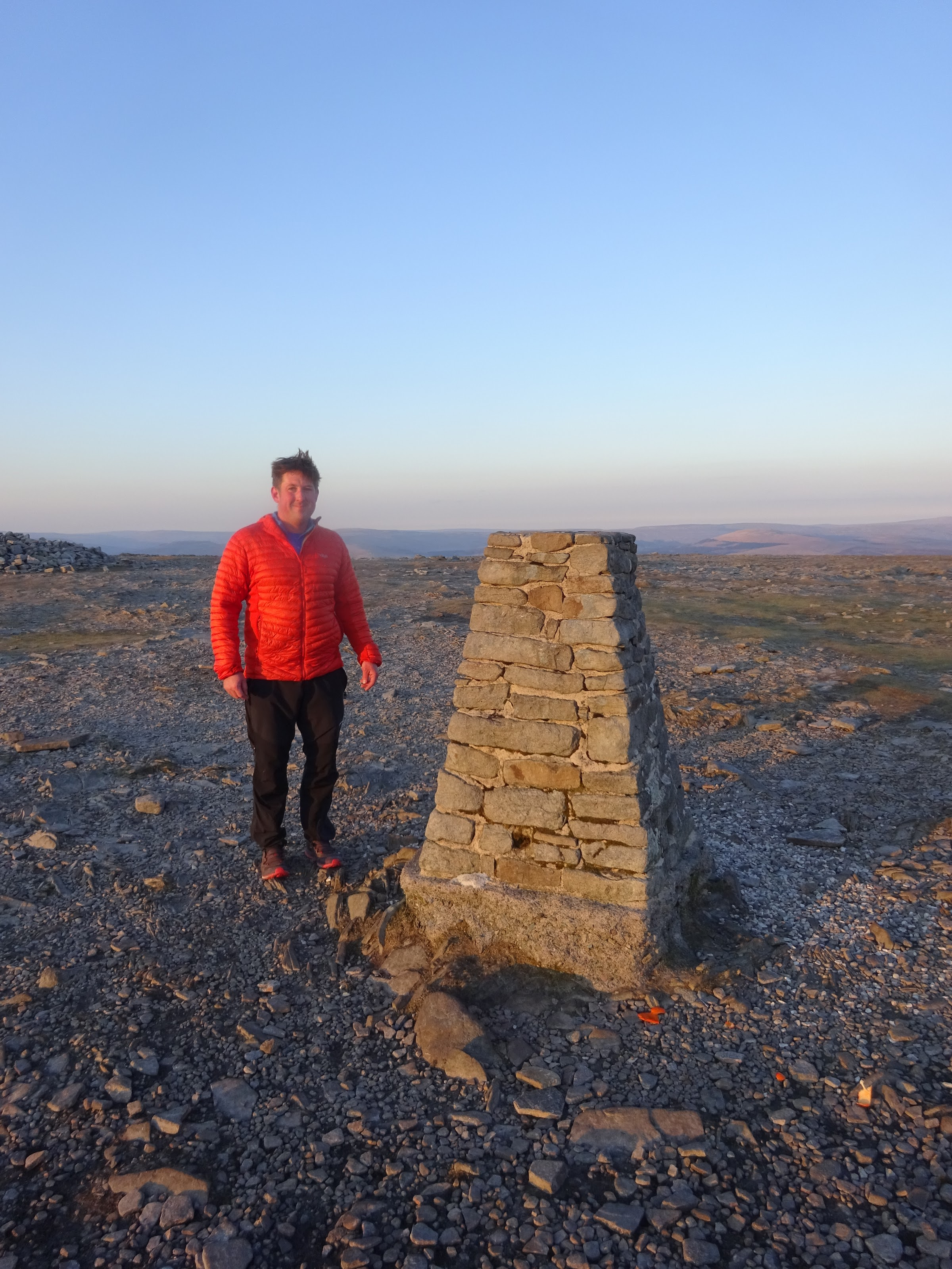 Keith sees me off from Ingleborough