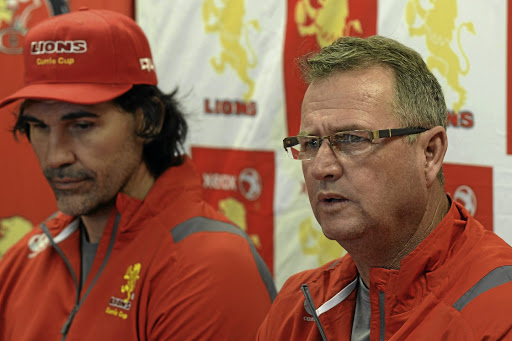 New era dawns: Swys de Bruin, right, and Victor Matfield face the media in Johannesburg on Thursday. Picture: LEE WARREN/GALLO IMAGES