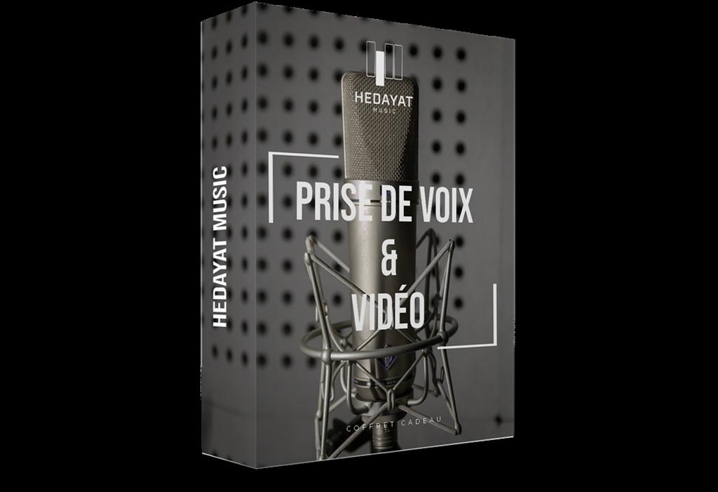 Coffret cadeau prise de voix et vidéo