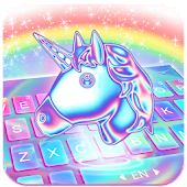 Laser Unicorn Keyboard Theme