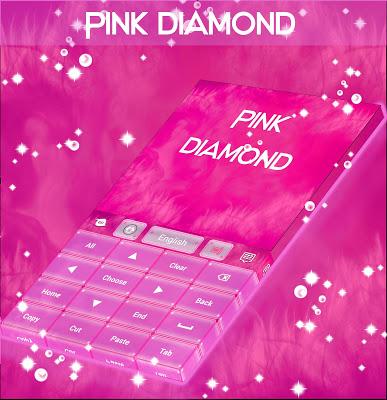Pink Diamond For GO Keyboard - screenshot