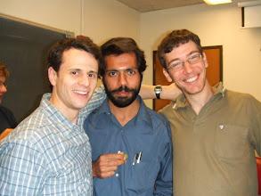 Photo: David, Manju and Ron