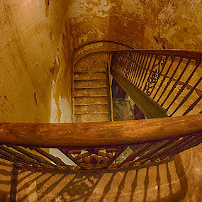 Going down ?  by Tammy Scott - Buildings & Architecture Architectural Detail ( temple, church, stairway, architecture, historical, decay )