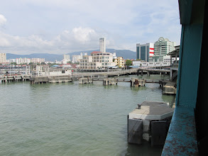 Photo: Penang; on ferry to Butterworth to get train to KL