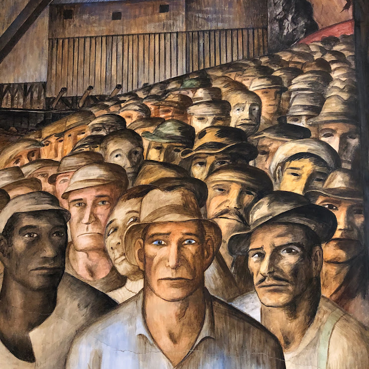 Disillusioned workers captured on the Coit Tower murals