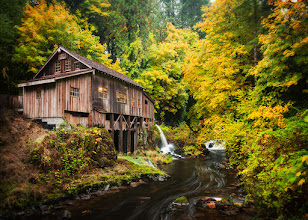 Photo: The Old Mill  Yesterday I joined +Brian Matiash+Nicole S. Youngand +Jeffrey Yento brave the rain in the attempt to capture some fall color. Well the rain didn't disappoint and neither did the beauty of this old mill. We ventured just outside of Woodland, WA to see the Cedar Creek Grist Mill. What a place! I look forward to going back when the rain isn't such a nuisance.