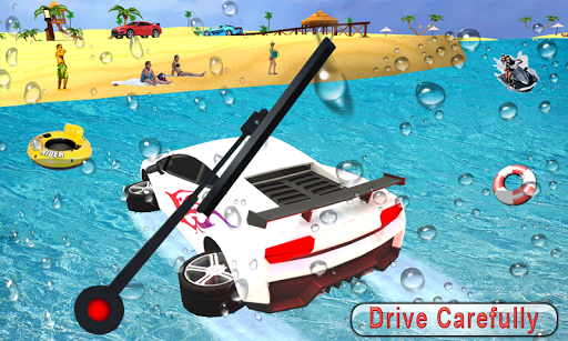 Water Surfer car Floating Beach Drive apkpoly screenshots 2