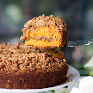 Papaya Pecan Streusel Cake.