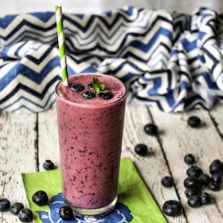 Carol's Blueberry Yogurt Smoothie.