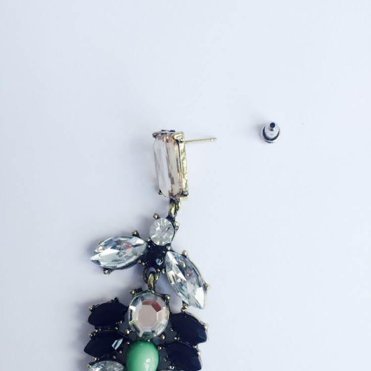 E047 - M. Lady of Charm Faux Gem Earrings