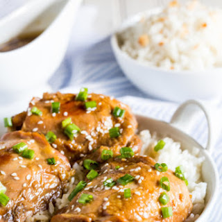 Sticky Asian Style Chicken Thighs