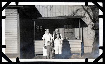 Photo: Tom Brandvold Album TBB162 / Hilda and Alfred Thompson with son Raymond.  Daughter is probably Betty (Rubina)