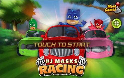 PJ GO Masks Car Racing Game - náhled