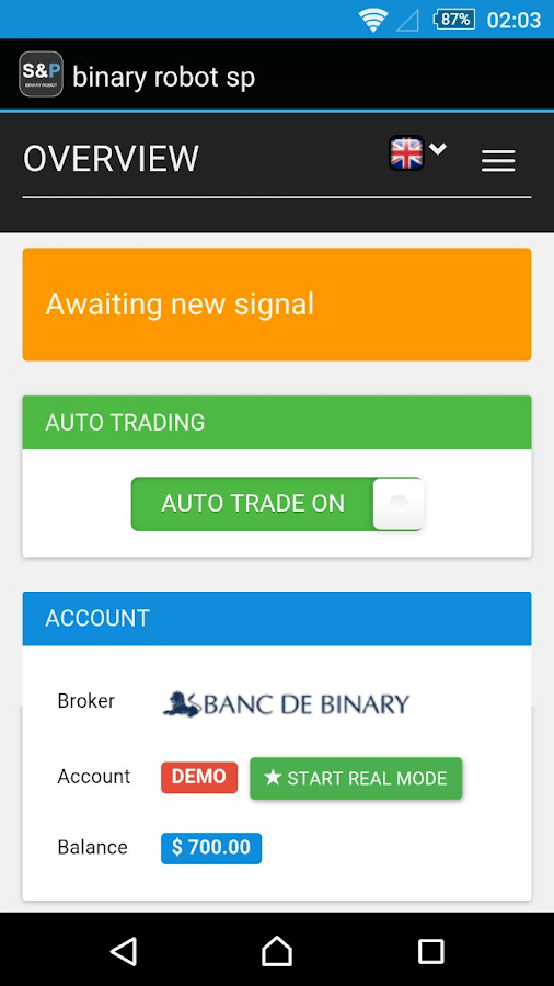 Binary option robot mobile