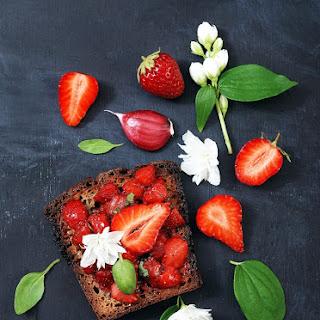 Bruschetta Aux Fraises Et Basilic - Strawberry Basil Bruschetta Recipe