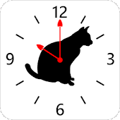 Cat silhouette Clock4