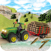 Tractor simulator farmer transport game