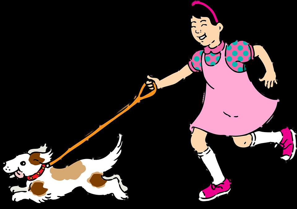 Bilde av jente og hund