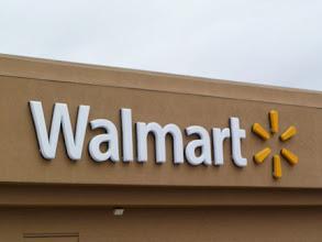 Photo: Doing a little shopping at Walmart.