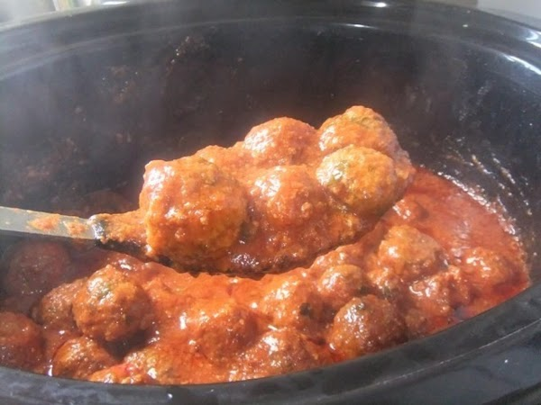 Slow Cooker Meatballs In Pasta Sauce Recipe
