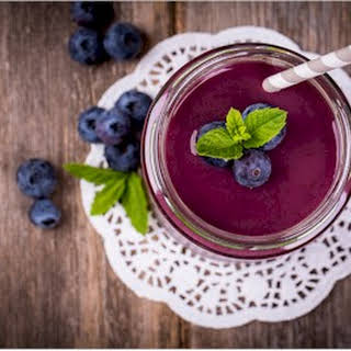 Purple Kale and Berry Smoothie.