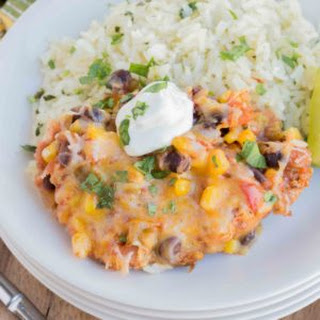 Salsa Chicken with Cilantro Lime Rice