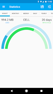 Data counter widget    - usage- screenshot thumbnail