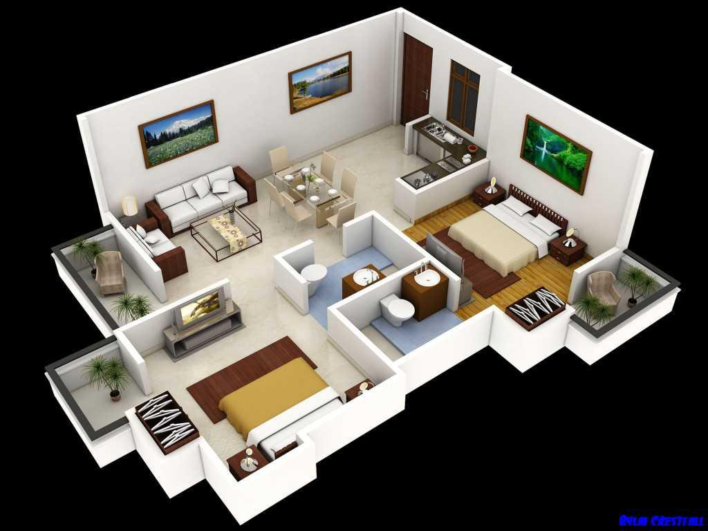 Superb 3d Model Home Plan