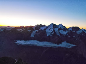 Photo: Mischabel at dawn, from E Ridge
