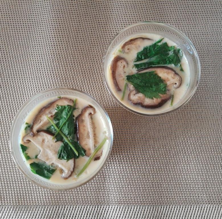 セリア耐熱ガラス製カップを使った茶碗蒸し