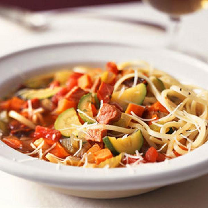 Brown Rice Minestrone Soup Recept Yummly Recipes Dishmaps