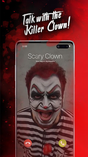 Killer Clown Simulated Video Call And Texting Game apktreat screenshots 2