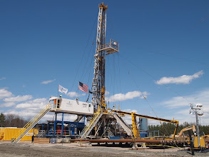Photo: The drill rig.
