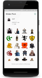 WAStickerApps - Game of Throne Sticker Pack Screenshot