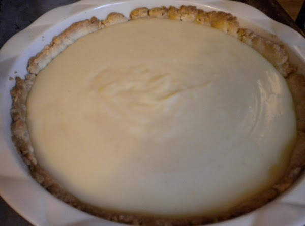 Spread evenly into shell. Set aside. Meringue-Preheat the oven to 375F. Using an electric...