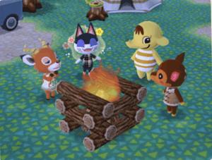みんなでキャンプファイヤー