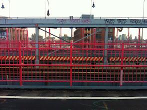 Photo: The many fences of Williamsburg Bridge