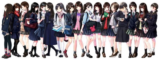 Ilustraciones basadas en las colegialas que observo Kazaharu