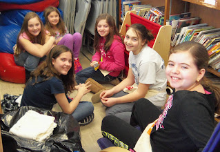 Photo: Kylee, Olivia, Emily, Chloe, Mia and Ava taking a break at the Fallbrook School Clothing Sale on March 23, 2013.