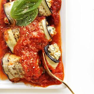 Eggplant Lasagna Roll Ups