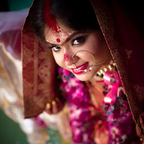 Sindor Portrait 2 by Pranab Sarkar - Wedding Bride ( bride, beautiful, bengali, wedding, portrait, indian wedding, indian )
