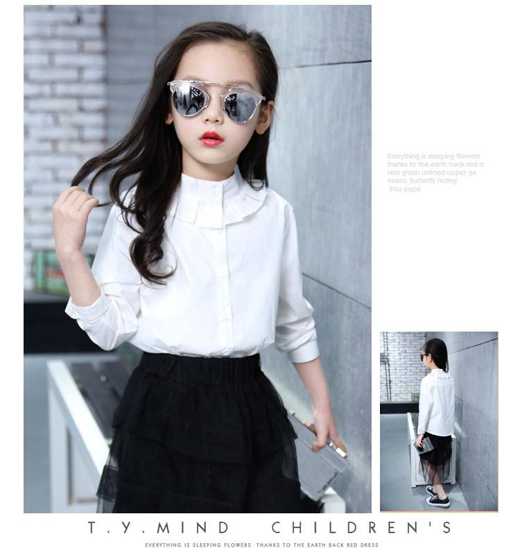 Koszula dziewczęca biała