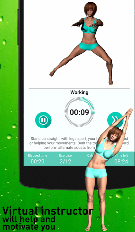 Warmup exercises - flexibility training- screenshot