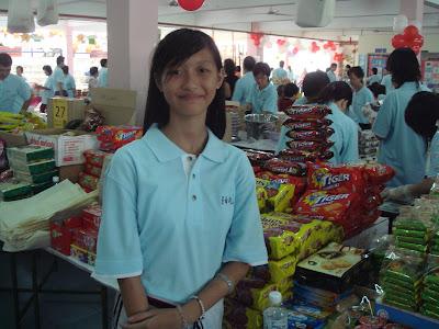 Girl at CHarity Food Fair