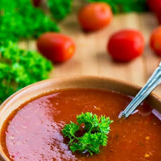 Tomato And Pepper Soup.