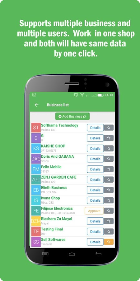 Business Manager /  Shop manager- screenshot